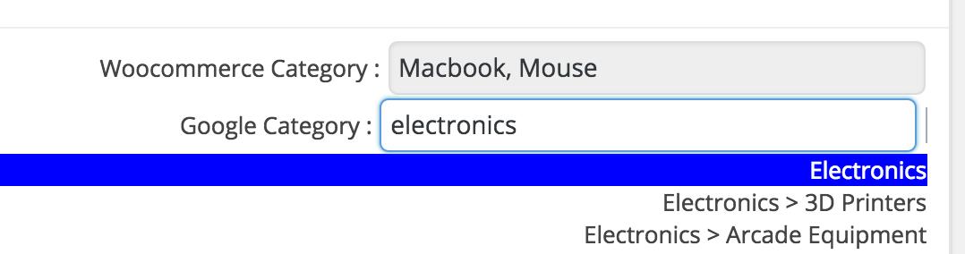 select merchant category
