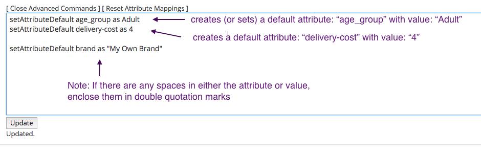 setting default attributes