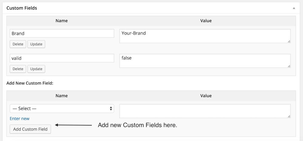 mappable custom fields