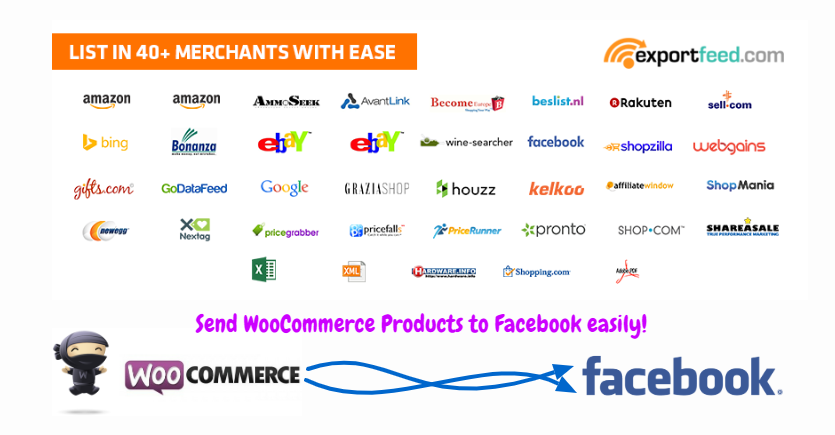 woocommerce to facebook products shop easily