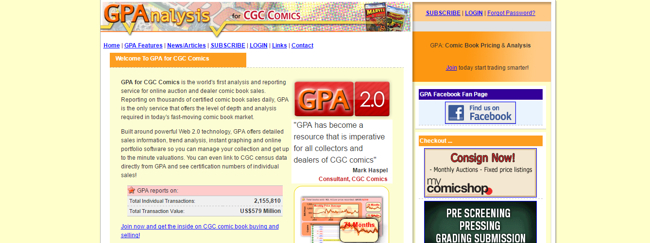send comic product feed to gpa analyse