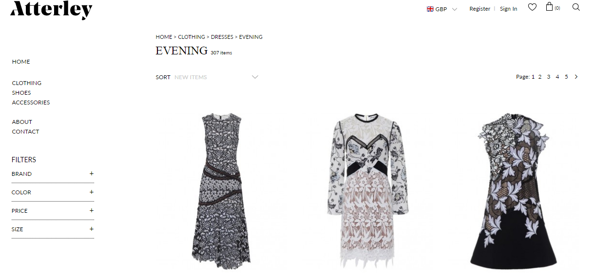 use ExportFeed to sell dresses from atterley