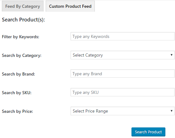custom product feed creation easily