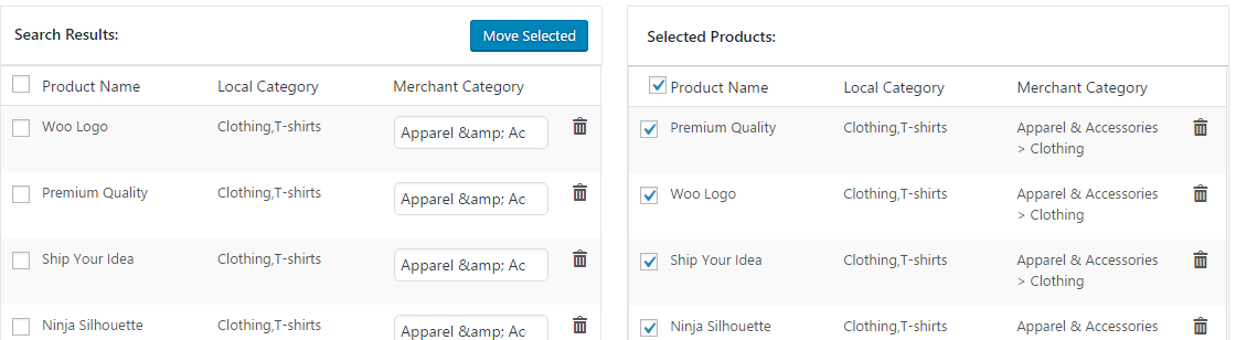 export feed product feed creation