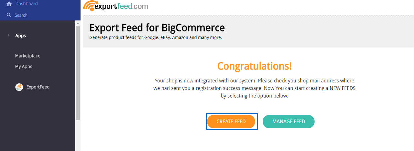 start-creating-feed-bigcommerce-control-panel