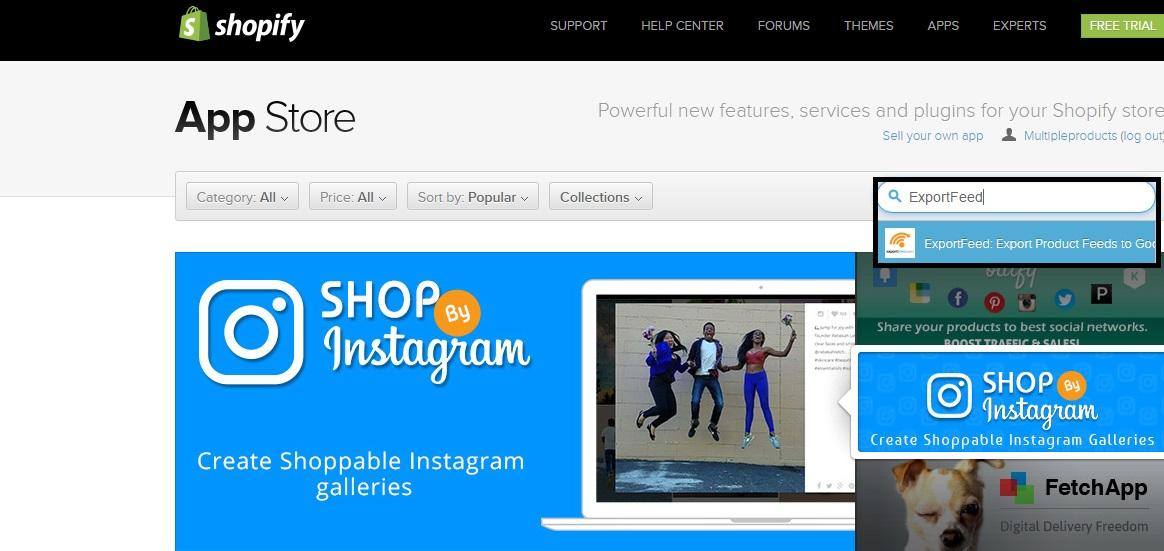 shopify-app-store-exportfeed