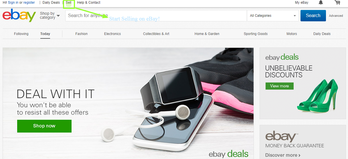 How To Start Selling Your Products On Ebay Registering On Ebay Explained