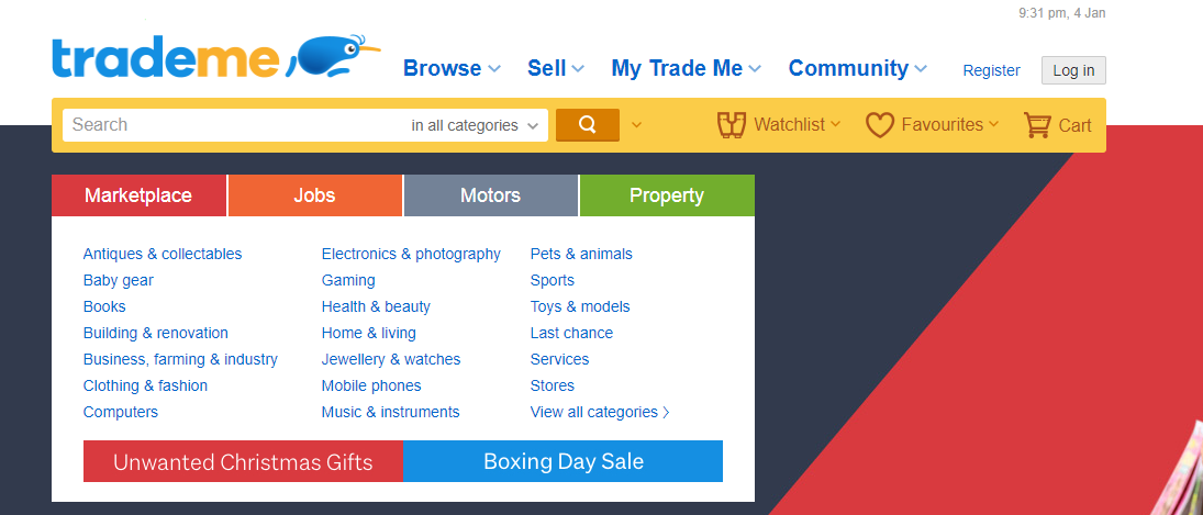 TradeMe product feed