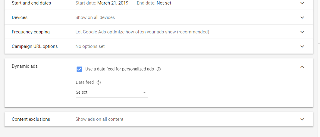 use data feeds for personalized ads