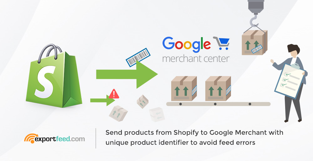 shopify to google with unique product identifier