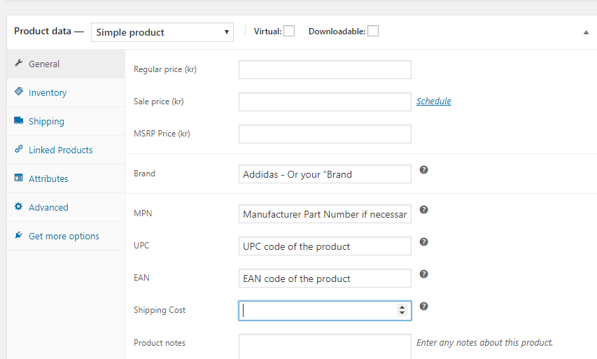 Woo Additional Fields in WooCommerce Product