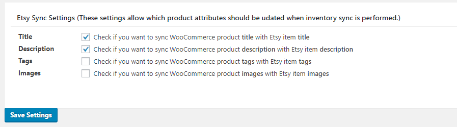 Etsy inventory sync settings