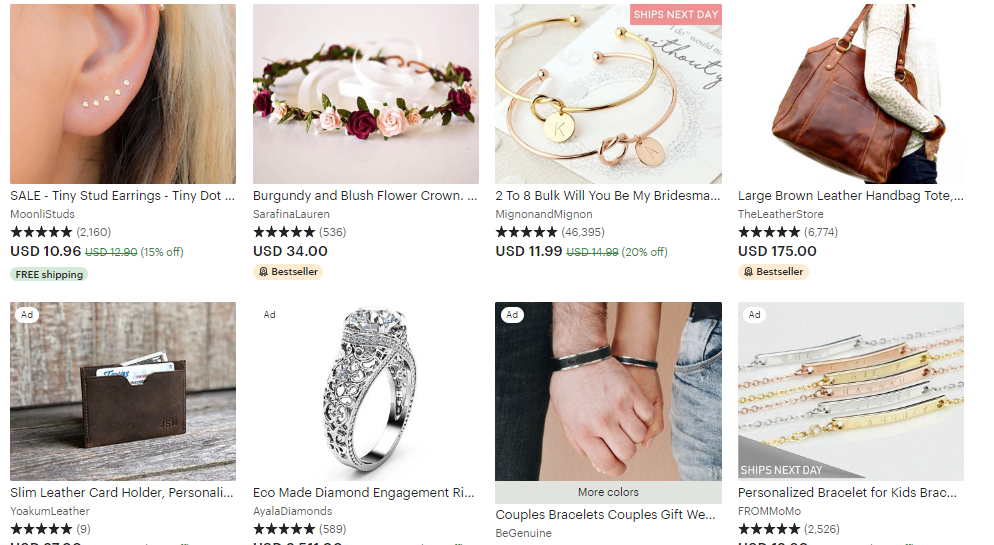 etsy jewelry category