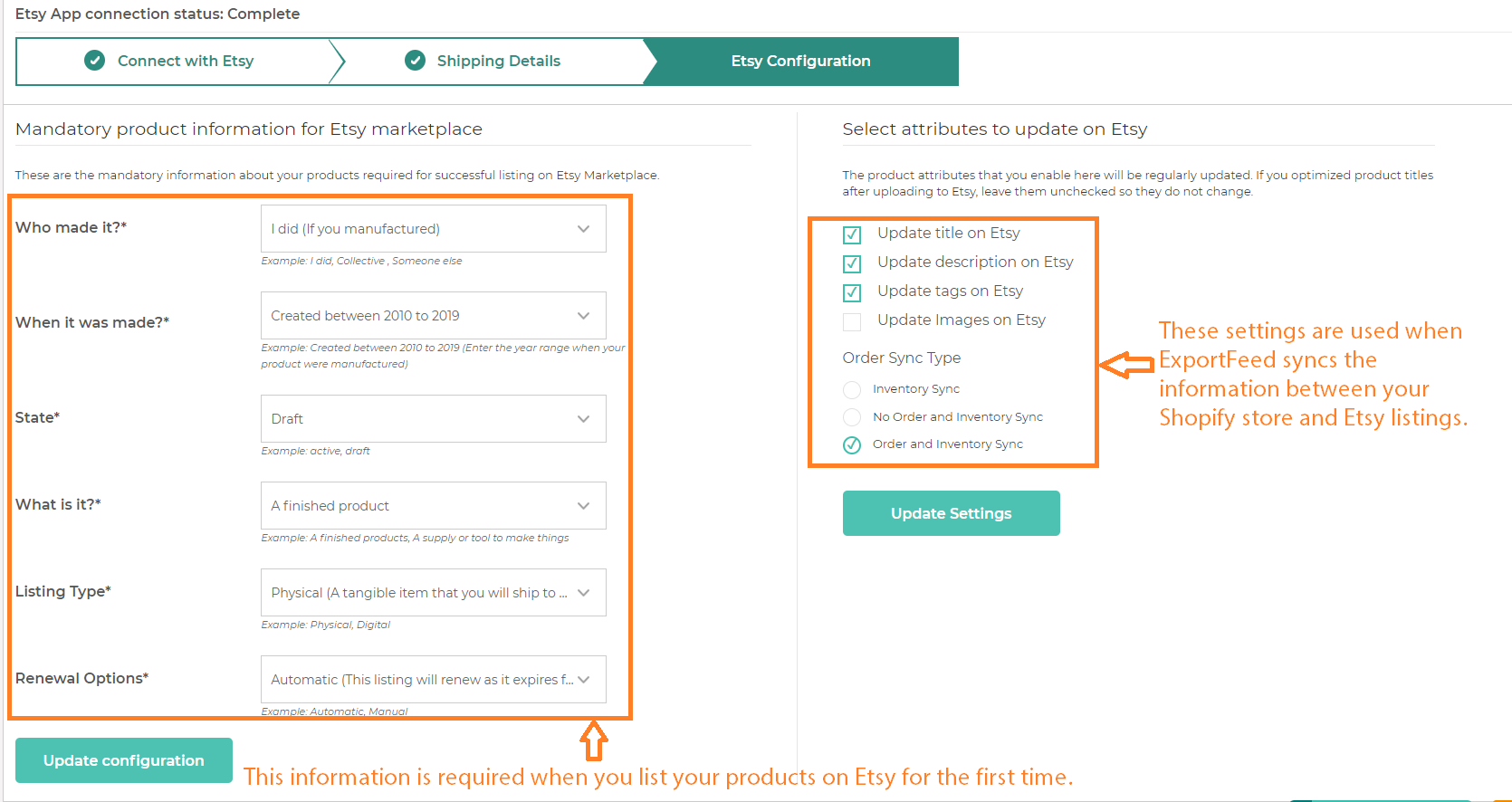 etsy-configuration-settings